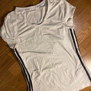 ADIDAS Women Workout Shirt White SMALL